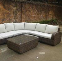 Set de sofá para exterior Alice - Set de muebles de sofá con trenzado fibra sintetica para exterior Alice
