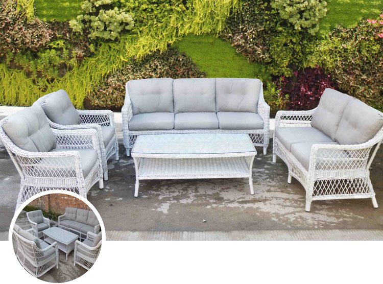 Mia home set de sof para exterior antique - Muebles fibra sintetica ...