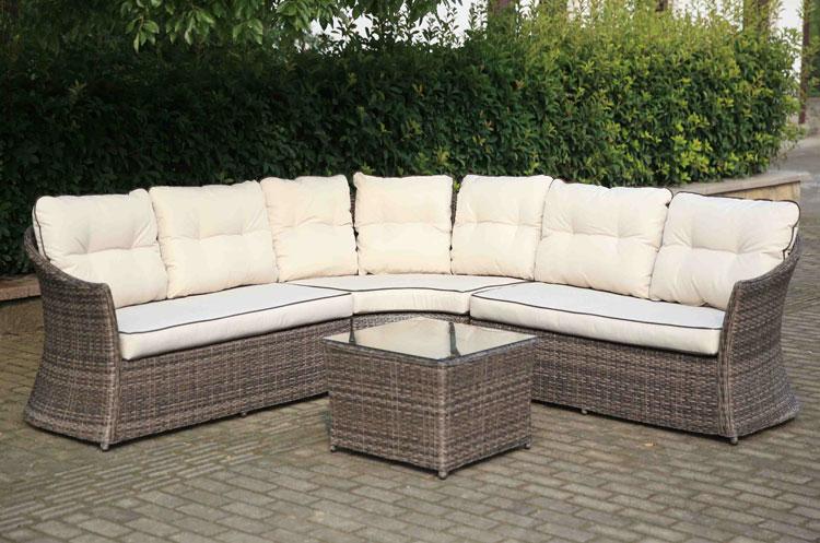 Mia home set de sof para exterior arenal - Muebles fibra sintetica ...