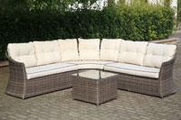 Set de sofá para exterior Arenal - Set de muebles de sofá con trenzado fibra sintetica para exterior ARENAL