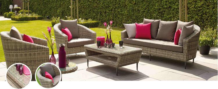 Set de sofá para exterior en rattan ASPEN - Set de muebles de sofá para exterior rattan ASPEN