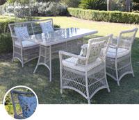 Set de sofá para exterior BELFAST - Set de muebles de sofá con trenzado fibra sintetica para exterior Belfast