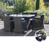 Set de mesa para exterior BORACAY - Mesa de comedor o silla para exteriores BORACAY. Estructura de aluminio y fibra sintetica