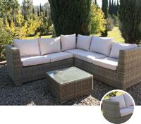 Set de sofá para exterior Budapest - Set de muebles de sofá  para exterior Budapest