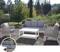 Set de sofá para exterior Caribbean - Set de muebles de sofá con recubierta batyline para exterior Caribbean