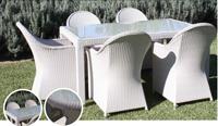 Set de mesa para exterior NOA - Mesa de comedor o silla para exteriores NOA. Estructura de aluminio y fibra sintetica