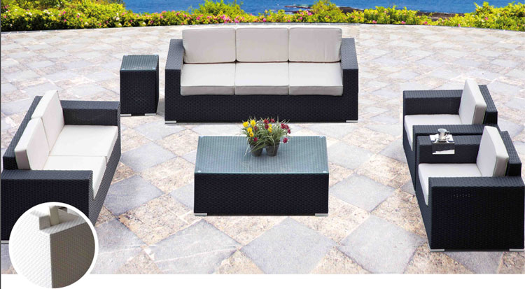 Set de sofá para exterior en fibra sintetica FARO - Set de muebles de sofá en fibra sintetica para exterior FARO
