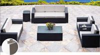Set de sofá para exterior en fibra sintetica FARO