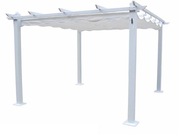 Pergola en estructura de aluminio rectangular 214 - Pergola en estructura de aluminio rectangular 525