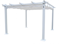 Pergola en estructura de aluminio rectangular 525 - Pergola en estructura de aluminio rectangular 525
