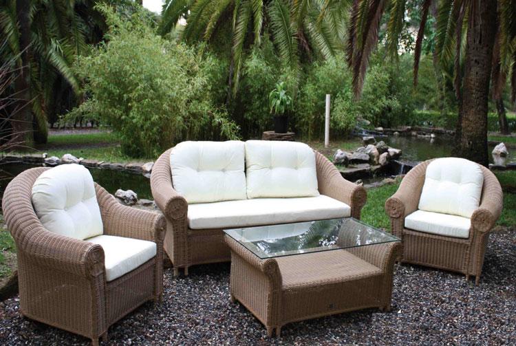 Muebles De Rattan Para Exterior : Mia home set de sof� para exterior en rattan principe