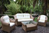 Set de sofá para exterior en rattan Principe - Set de muebles de sofá para exterior rattan PRINCIPE
