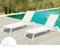 Tumbona de estructura de aluminio para exterior,TULIP - Tumbona de estructura de aluminio para exteriores modelo TULIP