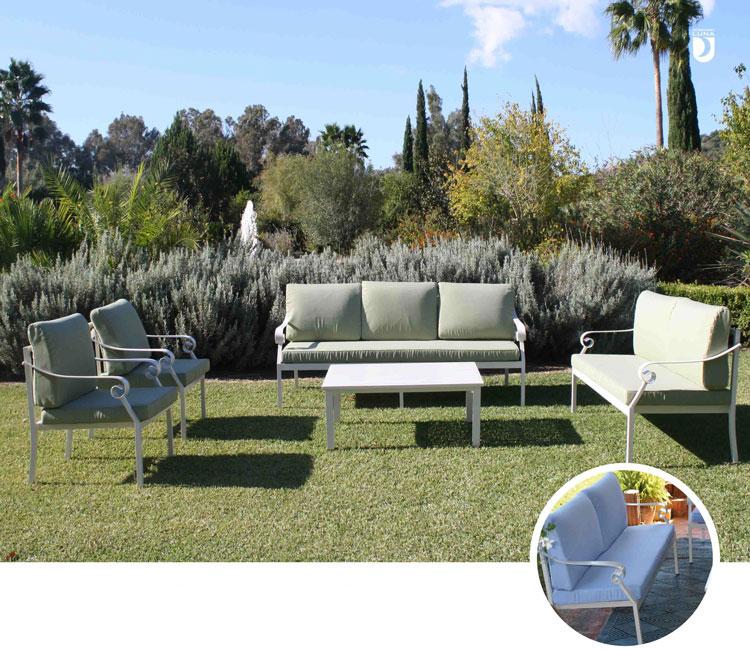 Set de sofá para exterior Verona - Set de muebles de sofá  para exterior Florence