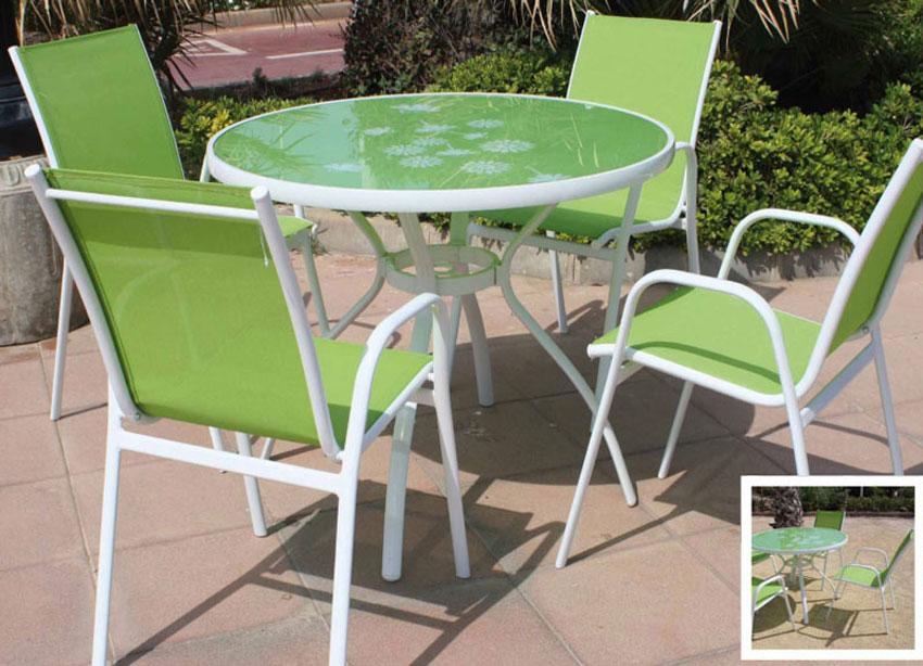 Set de mesa y sillón para exterior Africa - Set de mesa y sillón para exterior  Africa