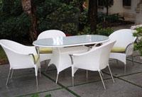 Set de mesa para exterior Bianco - Set de mesa de exterior Bianco