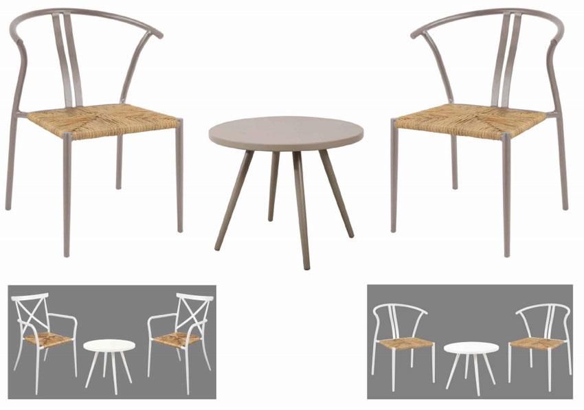 Set de mesa y sillón para exterior Bistro Chic - Set de mesa y sillón para exterior Bistro Chic