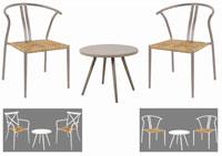 Set de mesa y sillón para exterior Bistro Chic