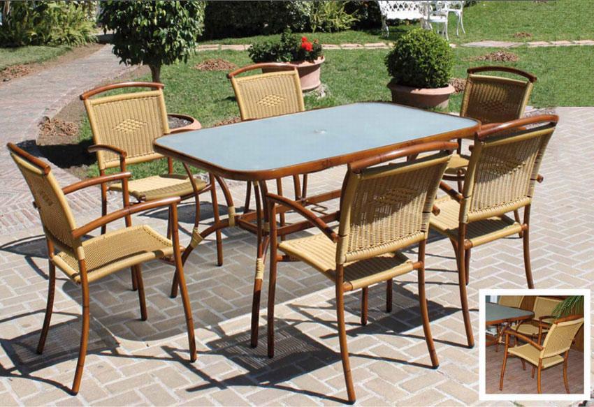 Set de mesa para exterior Cebu - Set de mesa de exterior Cebu