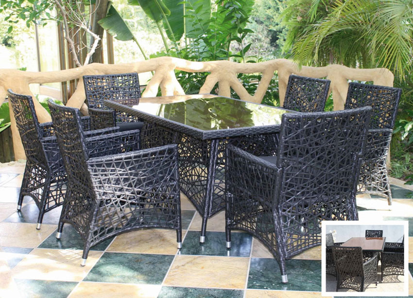 Set de mesa para exterior Greco - Set de mesa de exterior Greco