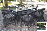 Set de mesa para exterior Laurel - Set de mesa de exterior Laurel