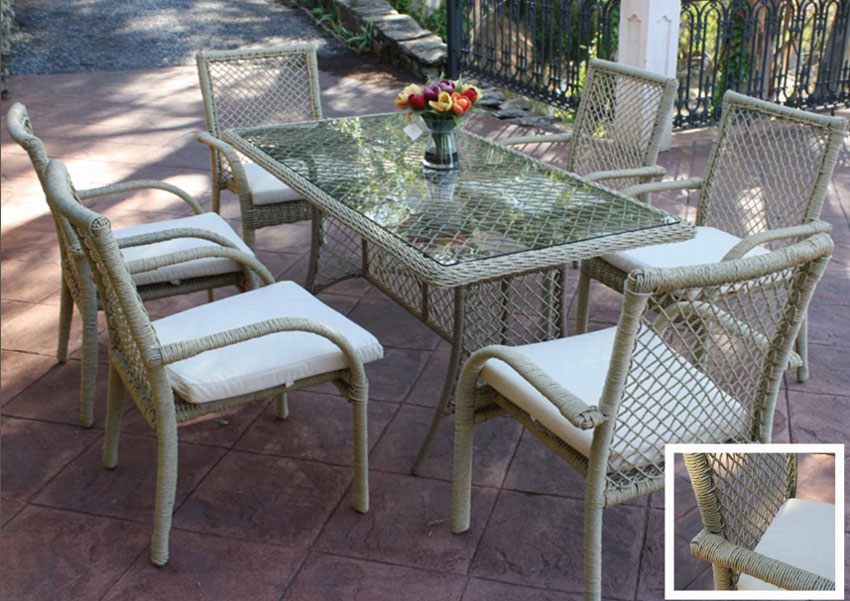 Set de mesa para exterior Napoly 2 - Set de mesa de exterior Napoly 2
