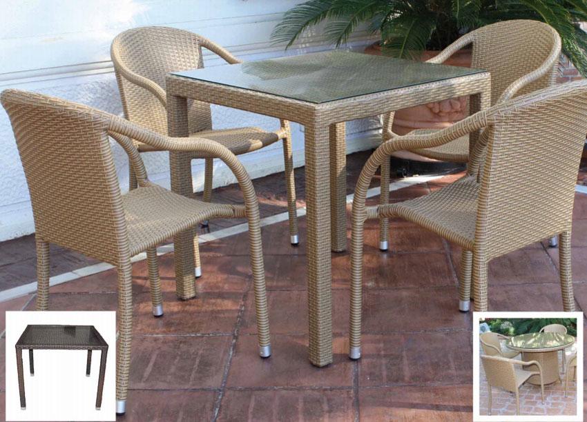 Mesa para exterior o sillones Turky - Mesa para exterior o sillones Turky