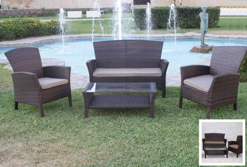 Set de sofá para exterior 303 - Set de muebles de sofá  para exterior 303