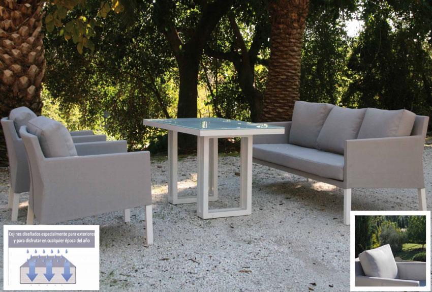 Set de sofá para exterior Caribean - Set de muebles de sofá  para exterior Caribean