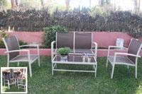 Set de sofá para exterior Denia - Set de muebles de sofá  para exterior Denia