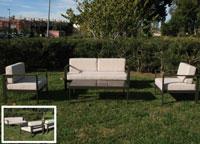 Set de sofá para exterior Indiana - Set de muebles de sofá  para exterior Indiana