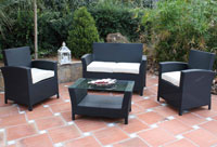 Set de sofá para exterior Toronto - Set de muebles de sofá  para exterior Toronto