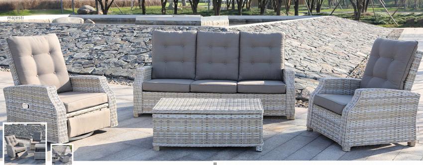 Set de sofá para exterior Cairo - Set de muebles de sofá  para exterior Cairo