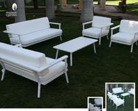 Set de sofá para exterior Genova - Set de muebles de sofá  para exterior Genova