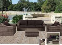 Set de sofá para exterior Navia - Set de muebles de sofá  para exterior Navia