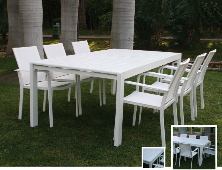 Set de mesa de exterior con sillas olimpia for Mesa comedor exterior