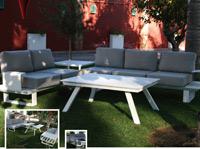 Set de sofá para exterior Olimpia - Set de muebles de sofá  para exterior Olimpia