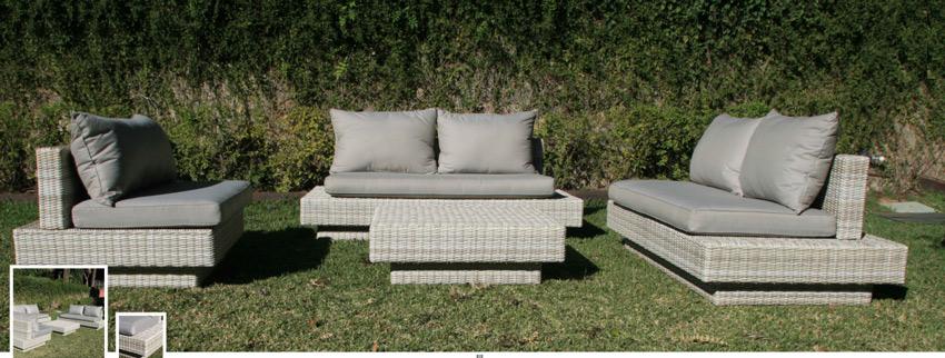 Set de sofá para exterior Olivia - Set de muebles de sofá  para exterior Olivia