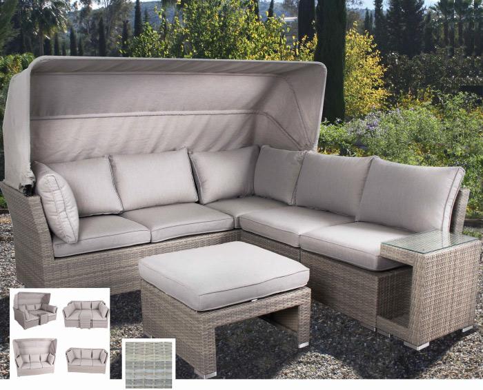 Set de sofá para exterior Oporto - Set de muebles de sofá  para exterior Oporto