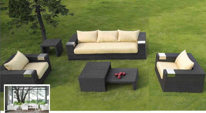 Set de sofá para exterior Tatta - Set de muebles de sofá  para exterior Tatta