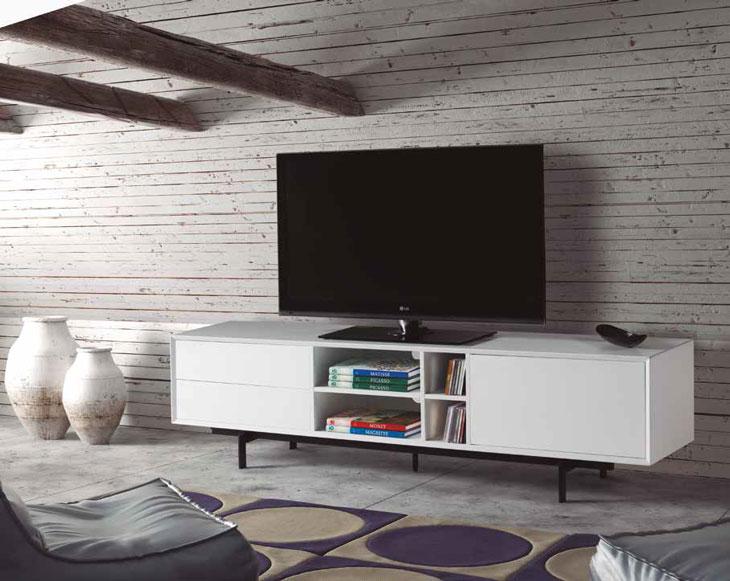 Mueble de TV BEATRIZ - Mueble de TV BEATRIZ, Fabricado en DM LACADO / METAL