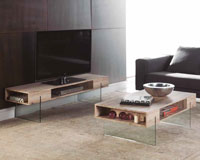 Mueble de TV CELINE - Mueble de TV CELINE, Fabricado en PAPEL MELAMINICO / CRISTAL
