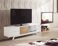 Mueble de TV ADRIAN - Mueble de TV ADRIAN, Fabricado en DM LACADO / ROBLE
