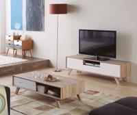 Mueble de TV OLGA - Mueble de TV OLGA, Fabricado en PATAS PINO/PAPEL/FRONT DM LACADO