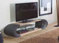 Mueble de TV GISELE - Mueble de TV GISELE, Fabricado en FIBRA VIDRIO / PVC LAM. PAPEL / CRISTAL