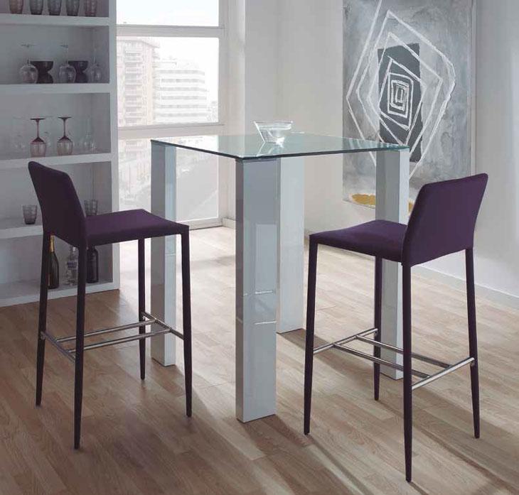 Mia home mesa alta de cocina leila - Mesa alta con taburetes ...