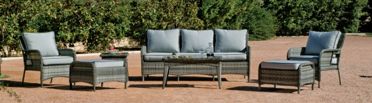 Colección de sillones de jardín - Conjunto de muebles de jardín para crear un ambiente de relajación.