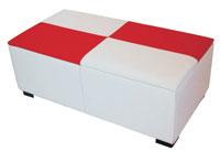Arcón Charol - Arcón Charol, tapizado en polipiel con brillo de alta calidad
