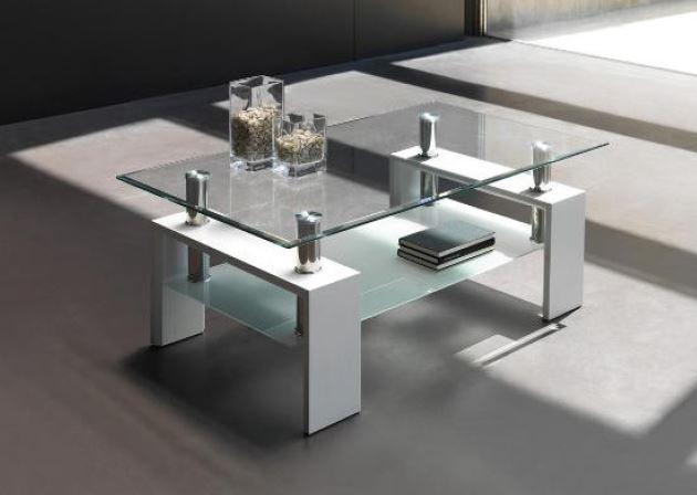 Mesas modernas de centro cool mesa centro blanco brillo with mesas modernas de centro mesas de - Mesas bajas de centro ...