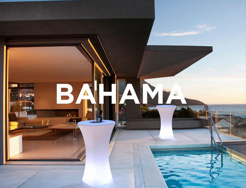 Mesa alta retroiluminada Bahama - Mesa alta retroiluminada Bahamas, fabricado en polietileno
